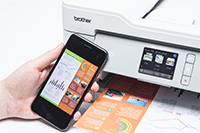 MFCJ-1300DW with mobile phone printing