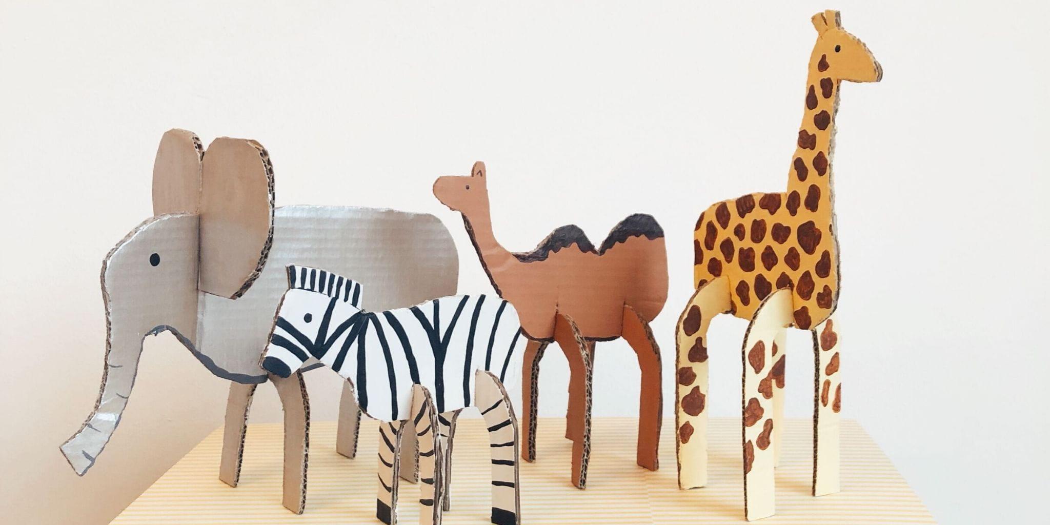 recycled-cardboard-animals-diy
