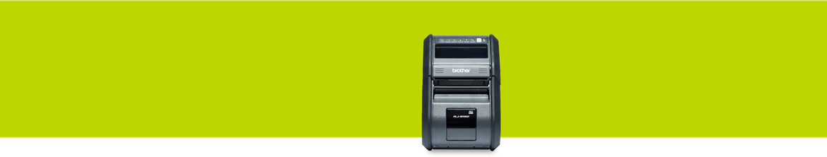 mobile printer on a green background