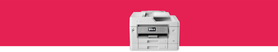 a dedicated a3 inkjet printer on a red background