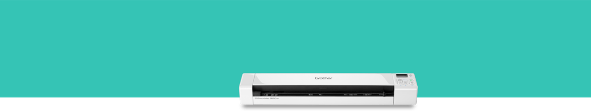 Portable scanner on green background