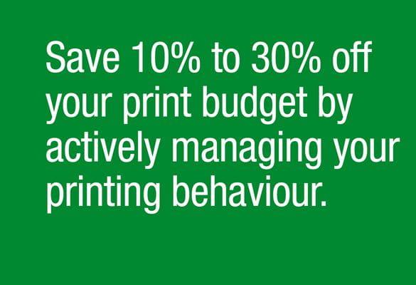 Print savings information