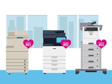 Printer line up