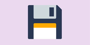 Animated floppy disk