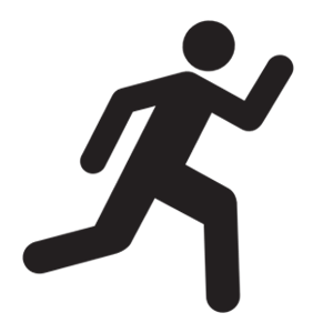 Black icon of person running