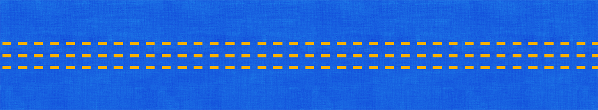 yellow pattern on a blue background
