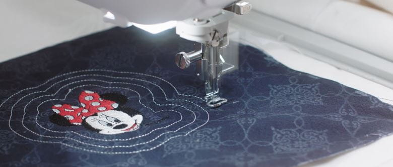 Embroidery of minimouse