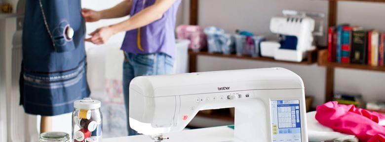 Sewing machine in studio
