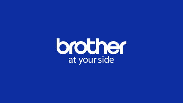 White brother Logo on blue background
