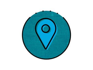 teal location pin icon