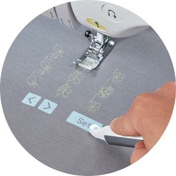 on fabric projected machine controls