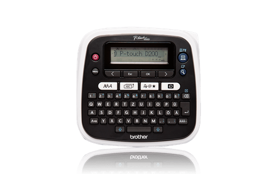 PT-D200VP Desktop Label Printer + Carry Case 2