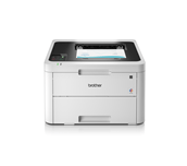 HLL3230CDW colour LED wireless printers front facing with paper