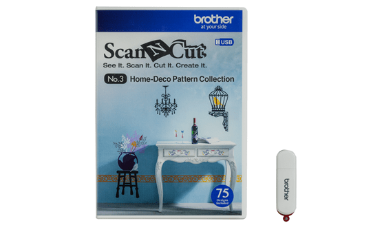 CAUSB3: ScanNCut Home-Deco Pattern Collection