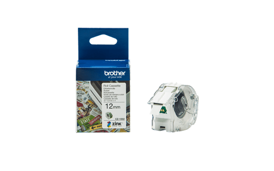 Genuine Brother CZ1002 full colour continuous label roll, 12mm wide