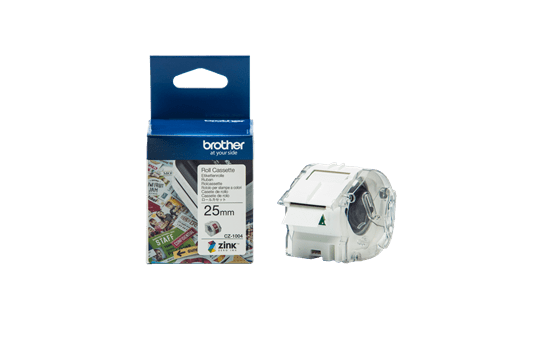 Genuine Brother CZ1004 full colour continuous label roll, 25mm wide