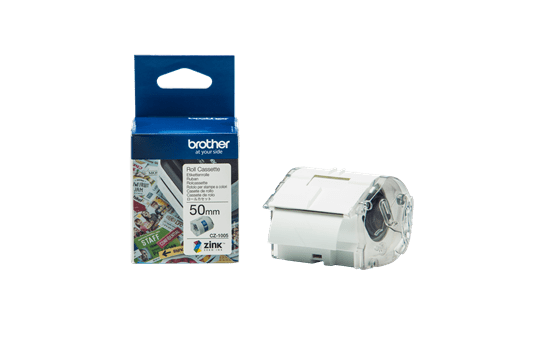 Genuine Brother CZ1005 full colour continuous label roll, 50mm wide