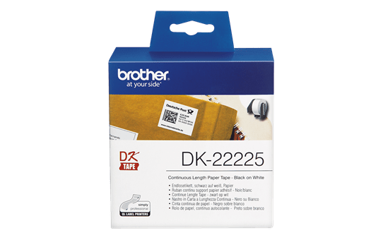Genuine Brother DK-22225 Continuous Paper Label Roll – Black on White, 38mm wide 2