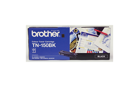 TN150BK black standard yield toner (2,500 pages) for Brother laser printer