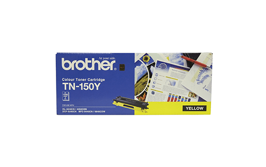 TN150Y yellow standard yield toner (1,500 pages) for Brother laser printer