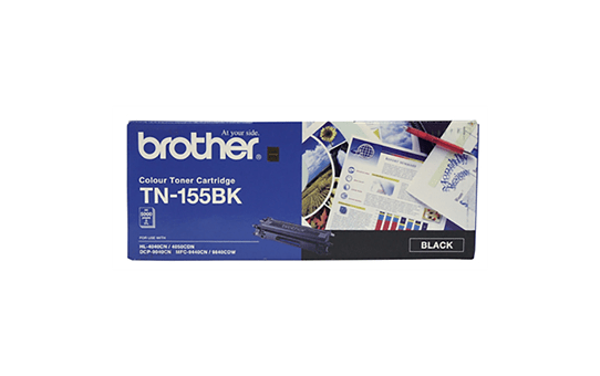 TN155BK black high yield toner (5,000 pages) for Brother laser printer