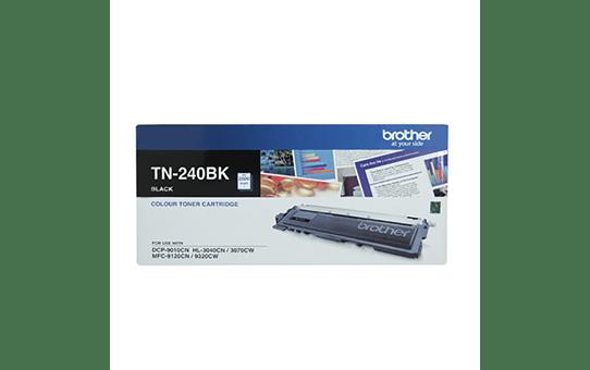 TN240BK black standard yield toner (2,200 pages) for Brother laser printer