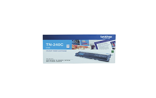 TN240C cyan standard yield toner (1,400 pages) for Brother laser printer
