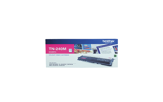TN240M magenta standard yield toner (1,400 pages) for Brother laser printer