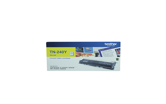 TN240Y yellow standard yield toner (1,400 pages) for Brother laser printer
