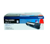 TN340BK black standard yield toner (2,500 pages) for Brother laser printer