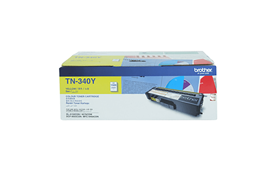 TN340Y yellow standard yield toner (1,500 pages) for Brother laser printer