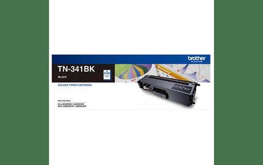 TN341BK black standard yield toner (2,500 pages) for Brother laser printer