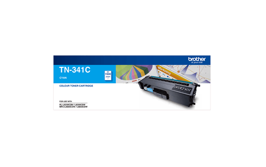 TN341C cyan standard yield toner (1,500 pages) for Brother laser printer