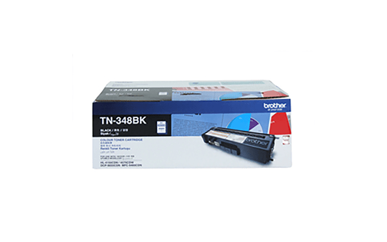 TN348BK black high yield toner (6,000 pages) for Brother laser printer
