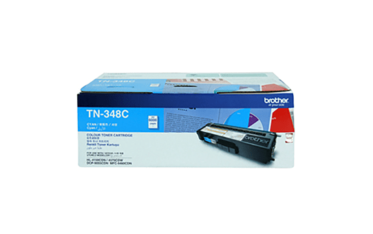 TN348C cyan high yield toner (6,000 pages) for Brother laser printer