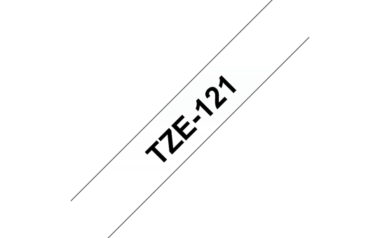 Genuine Brother TZe-121 Labelling Tape Cassette – Black on Clear, 9mm wide 3