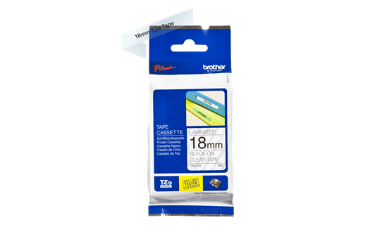 Genuine Brother TZe-141 Labelling Tape Cassette – Black on Clear, 18mm wide 2