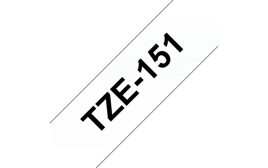 Genuine Brother TZe-151 Labelling Tape Cassette – Black on Clear, 24mm wide 3