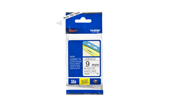 Genuine Brother TZe-221 Labelling Tape – Black on White, 9mm wide 2