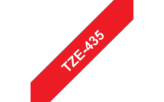 Genuine Brother TZe-435 Labelling Tape Cassette – White on Red, 12mm wide 3