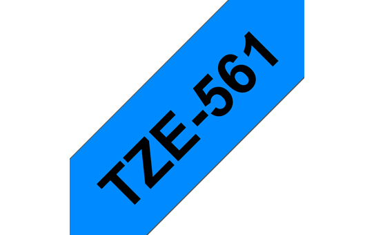 Genuine Brother TZe-561 Labelling Tape Cassette – Black on Blue, 36mm wide 3
