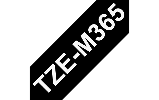 Genuine Brother TZe-M365 White on Black Matt Laminated Tape, 36mm