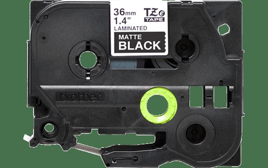 Genuine Brother TZe-M365 White on Black Matt Laminated Tape, 36mm 2