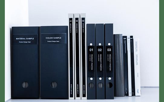 Genuine Brother TZe-M365 White on Black Matt Laminated Tape, 36mm 4