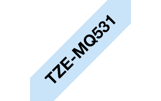 Genuine Brother TZe-MQ531 Labelling Tape Cassette – Black on Pastel Blue, 12mm wide 3