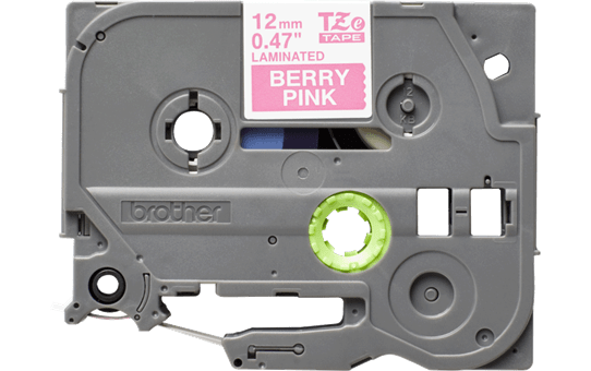 Genuine Brother TZe-MQP35 Labelling Tape Cassette – White on Berry Pink, 12mm wide