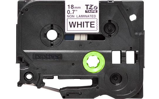 Genuine Brother TZe-N241 Labelling Tape Cassette – Black on White, 18mm wide