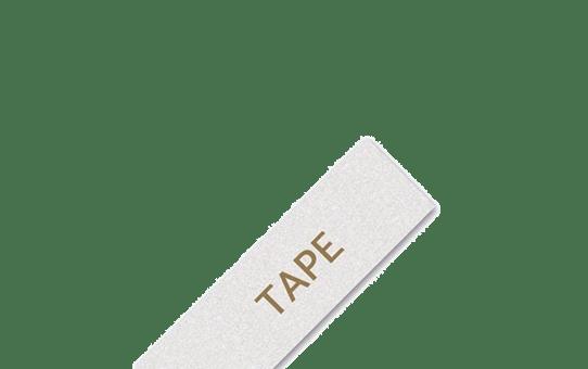Genuine Brother TZe-PR254Labelling Tape Cassette – Gold On Premium White, 24mm wide