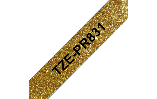 Genuine Brother TZe-PR831 Labelling Tape Cassette – Black On Premium Gold, 12mm wide 3