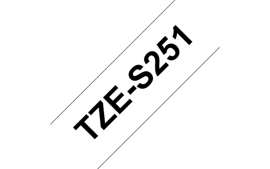 Genuine Brother TZe-S251 Labelling Tape Cassette – Black on White, 24mm wide  3